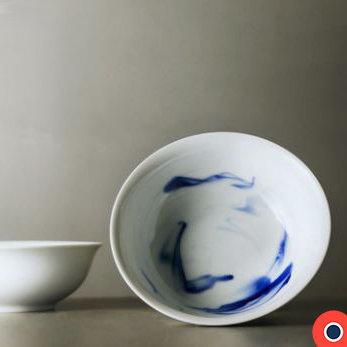 Blue Ink Large Salad/ Soup Bowl 21.5 cm