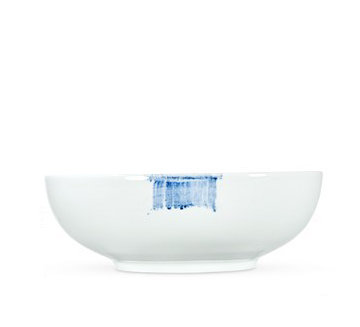Blue Brush Medium Serving Bowl 22 cm