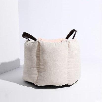 Pouf Cat Bucket Bag Cream