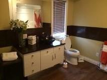 Tiled bathroom surround