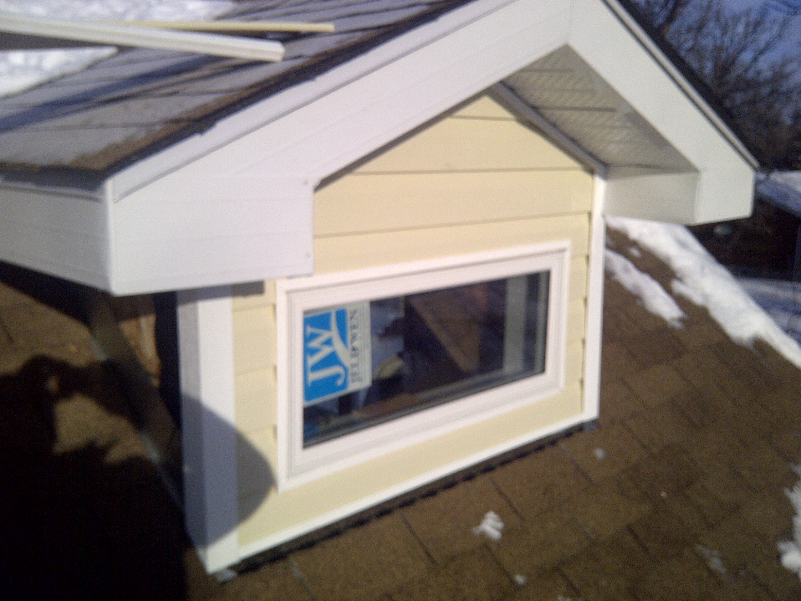 Dormer window install