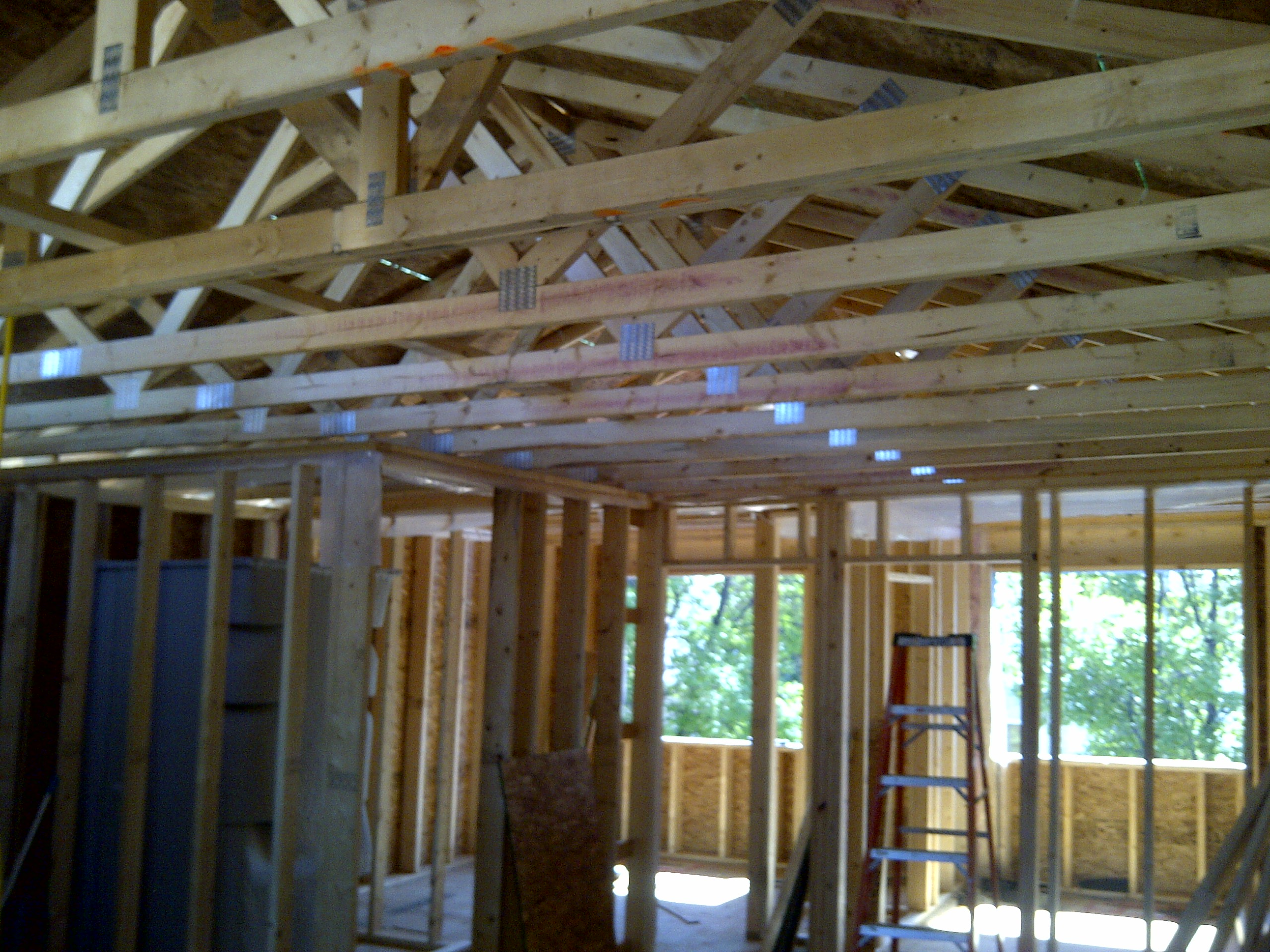 1st floor interior framing