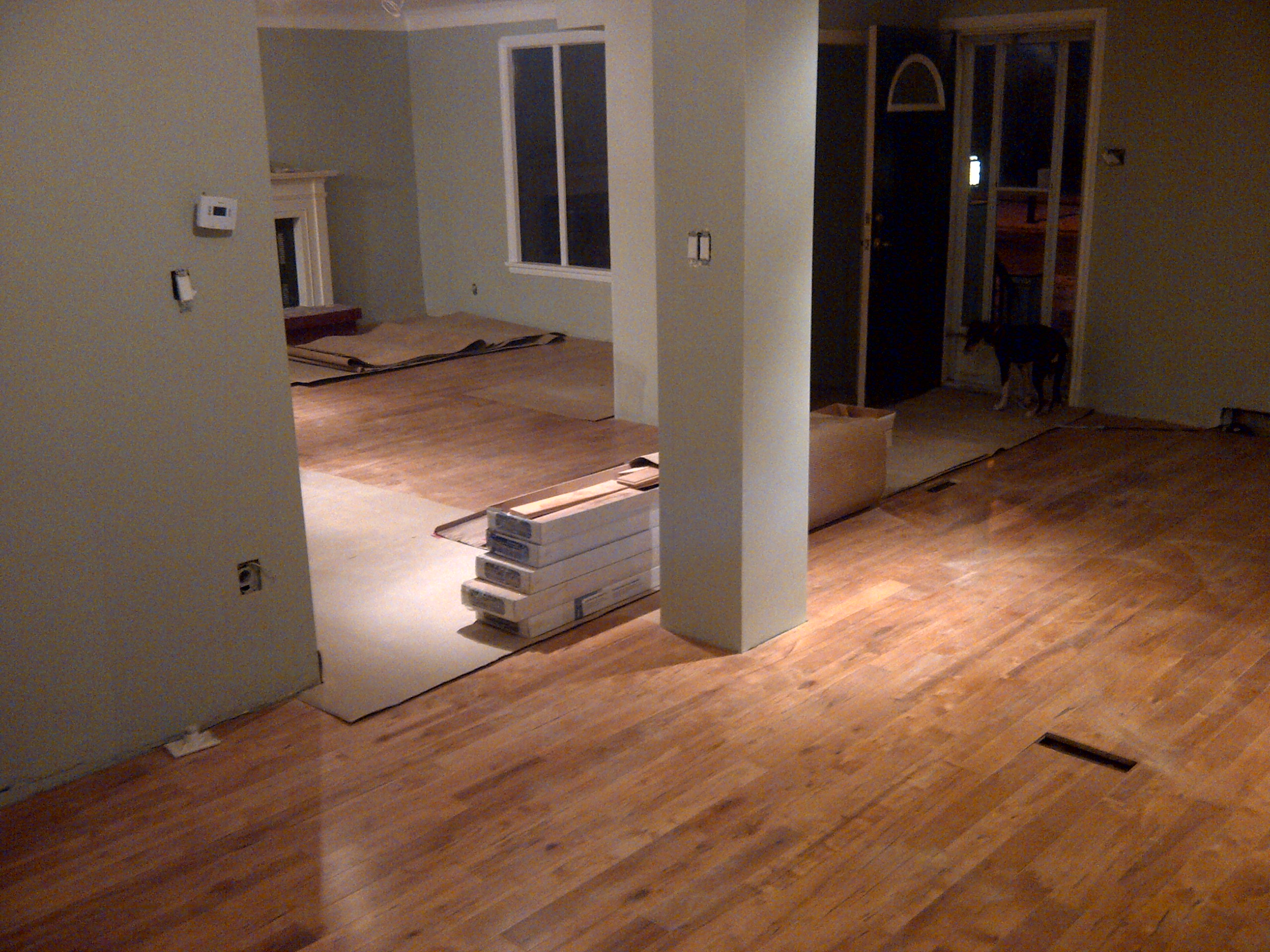 Main floor painting