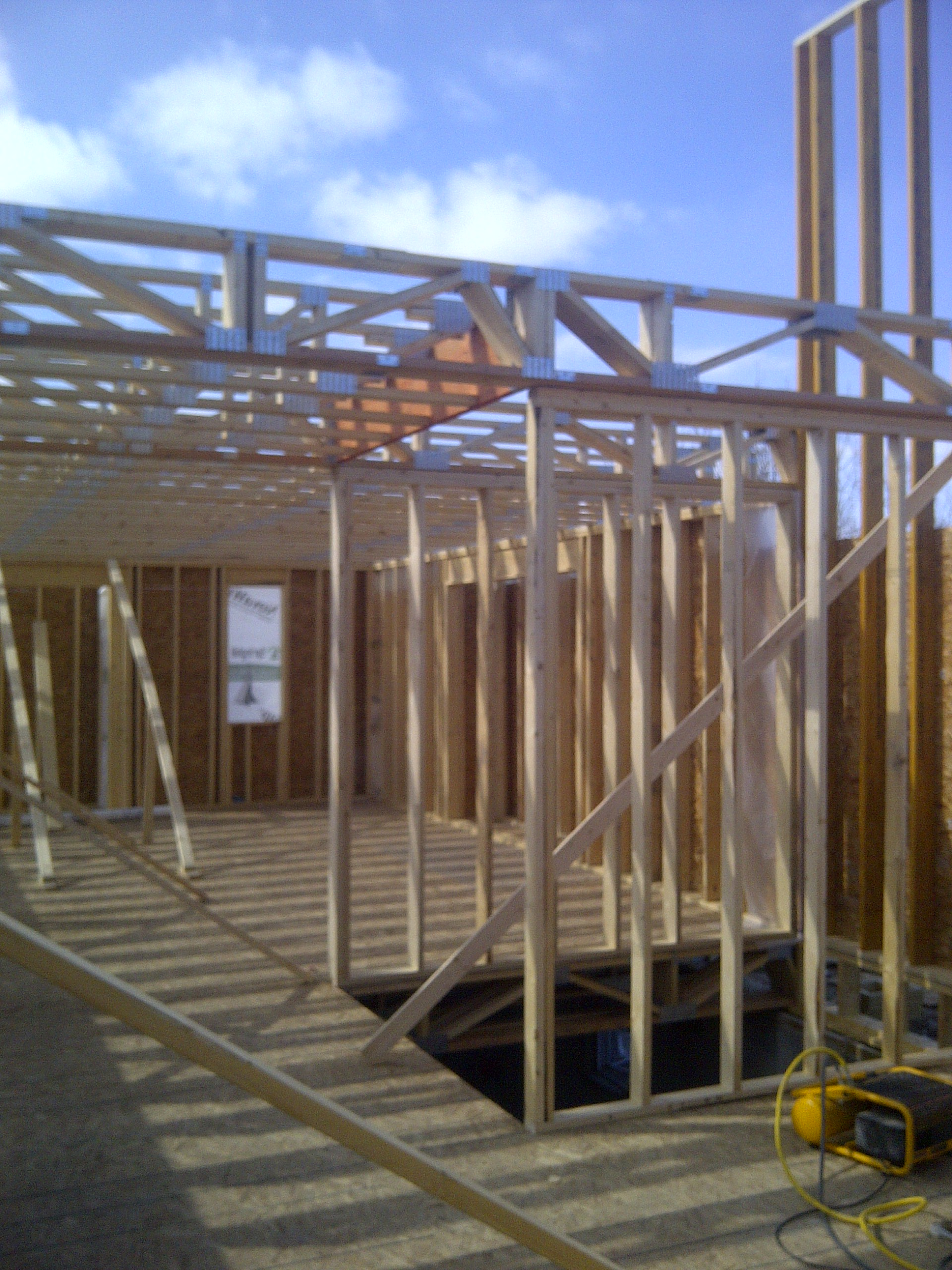 2nd floor truss framing