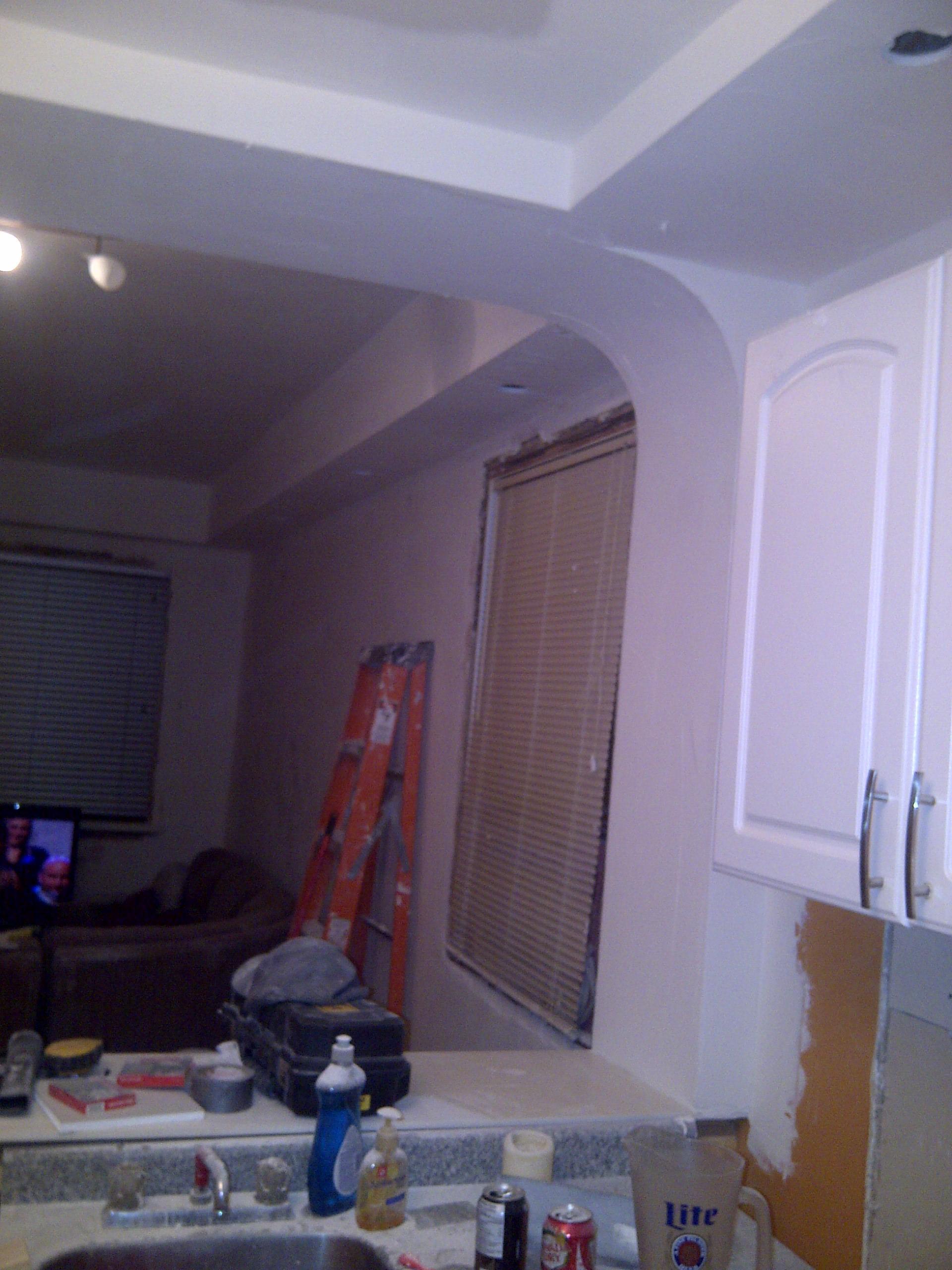 Angled drywall corner
