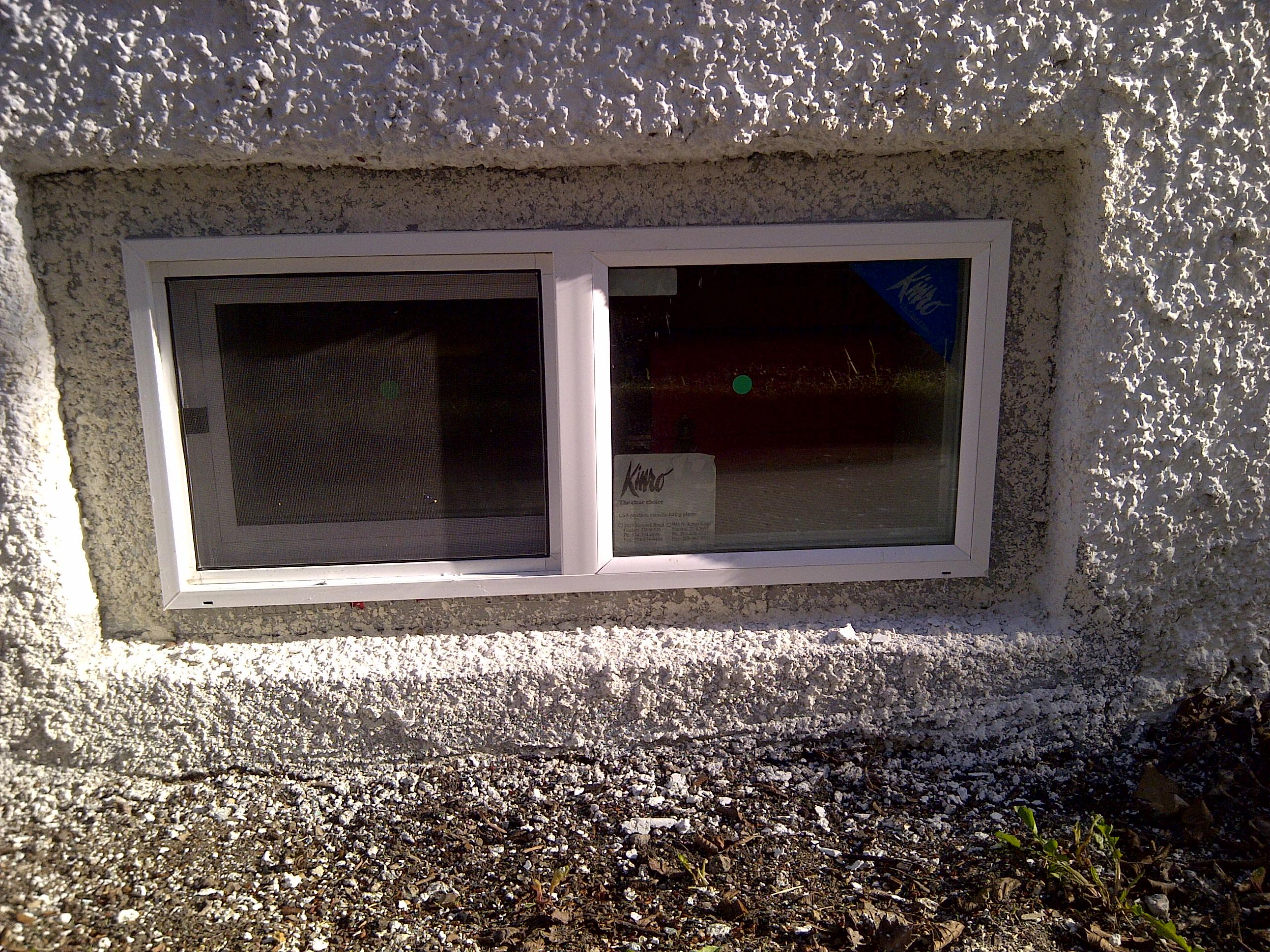 Basement window install