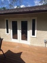 Window trim and stucco patch