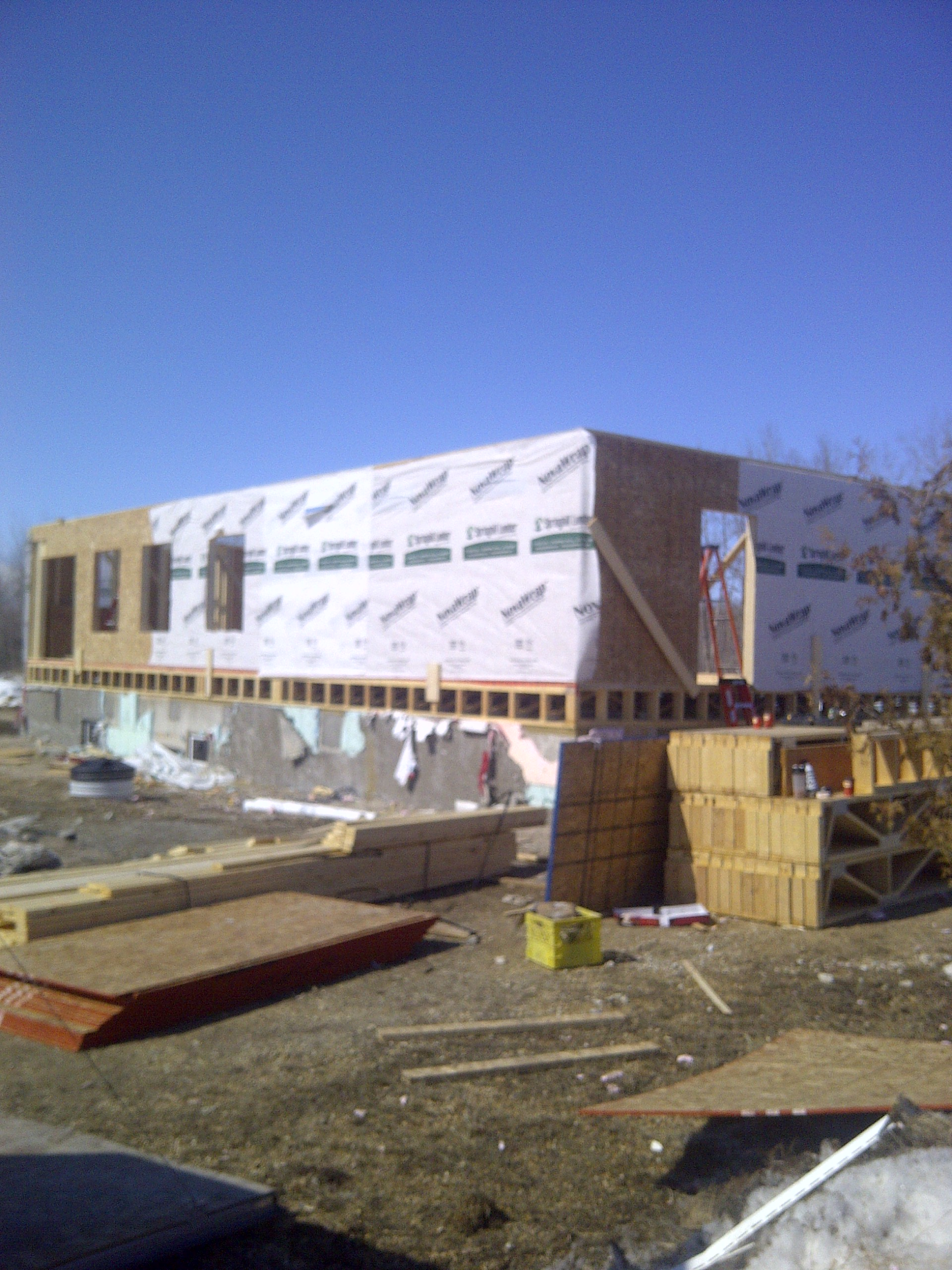 1st floor exterior wall framing
