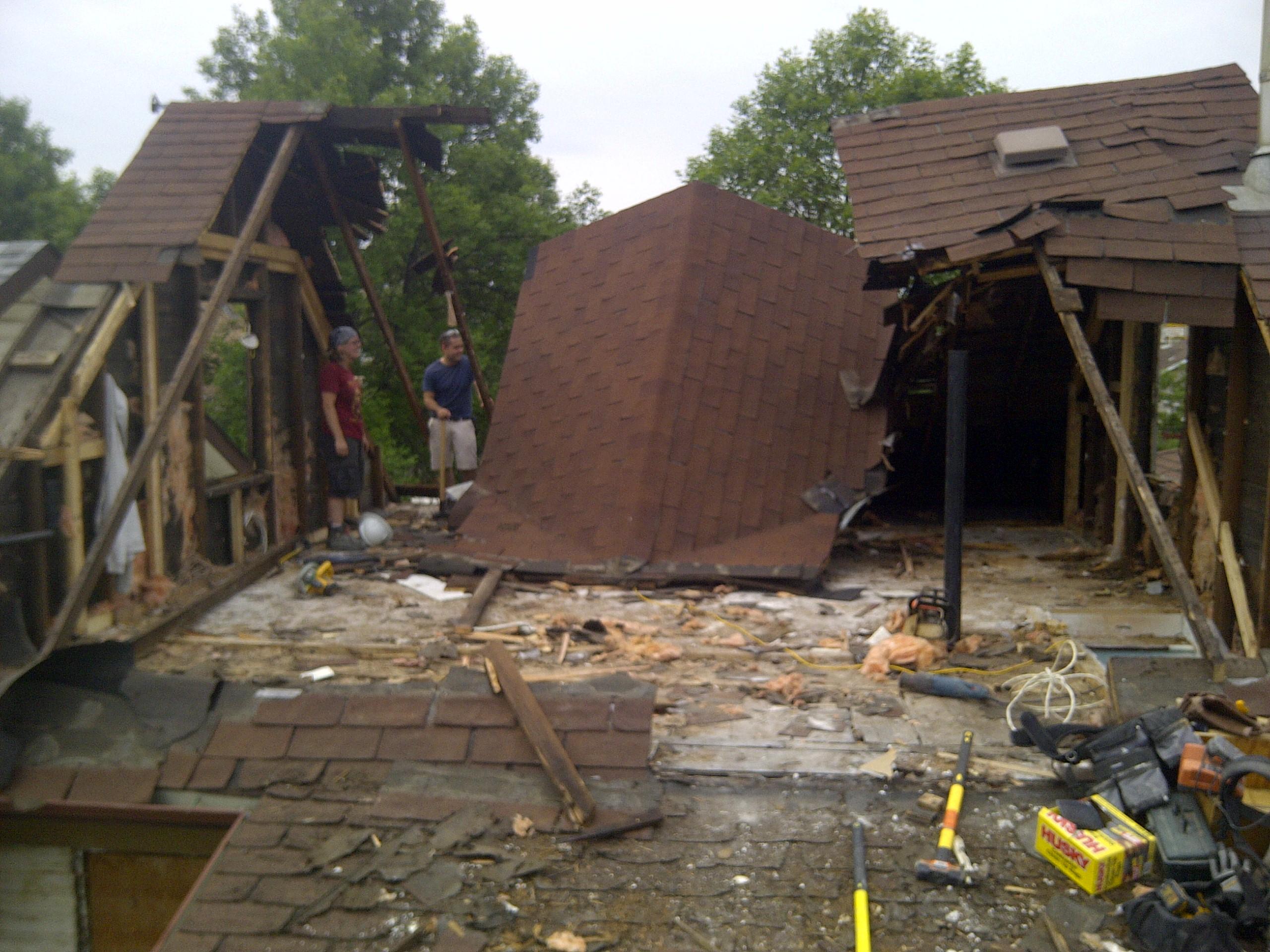 Roof/ attic demo