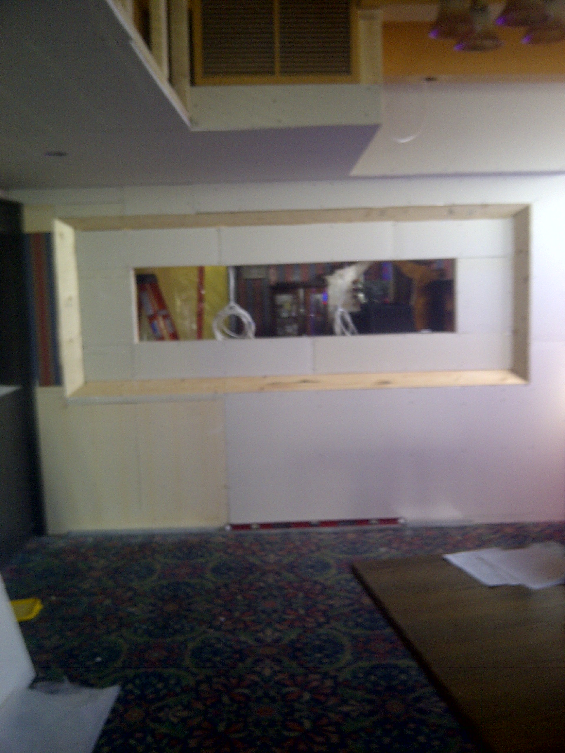 Feature wall and bulkhead