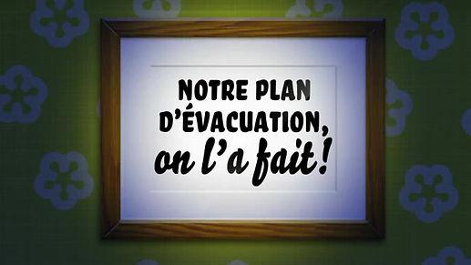 Les plans d'évacuation