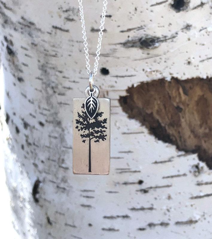 Aspen Tree Pendant Virginia Ann Designs