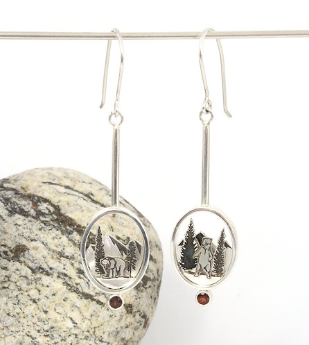 Bears and Mountains Earrings