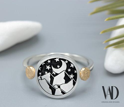 Celestial Mountain Ring
