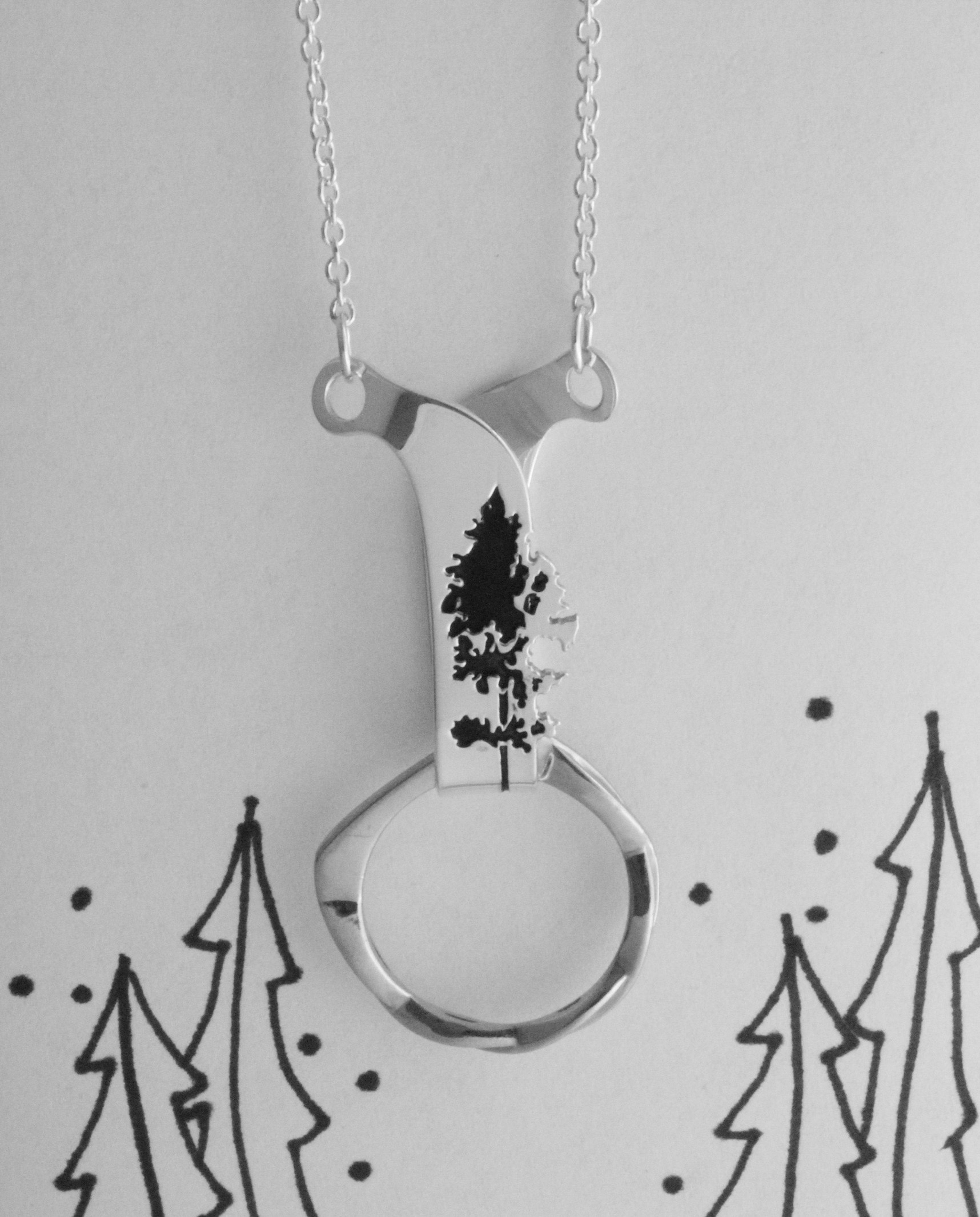 Aspen Tree Ring Holder Necklace
