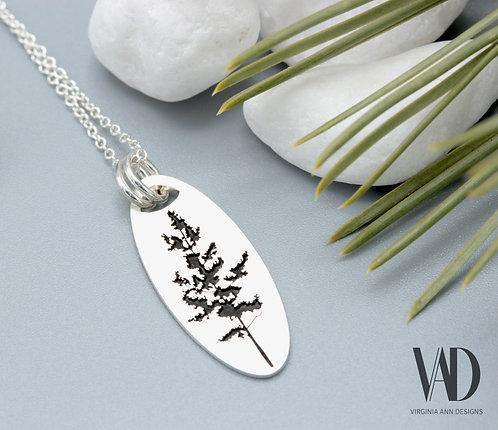 Oval Aspen Tree Necklace