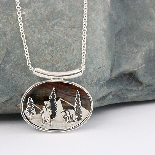 Bears and Mountains Pendant