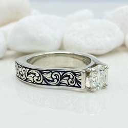 engraved engagement ring 2