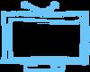 Синий Sketched TV