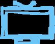 Azul esboçado TV