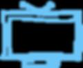 Blue Sketched TV