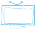 Azul bosquejado TV