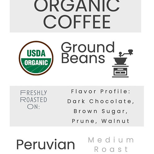 Organic Peruvian Coffee Ground Beans