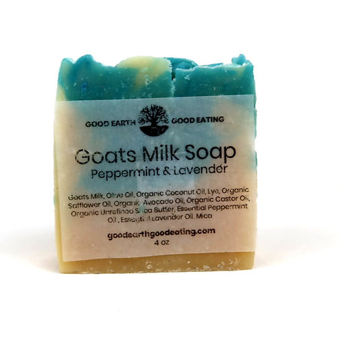 Goats Milk Peppermint Lavender Body Soap