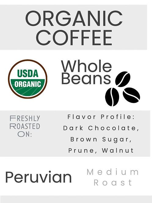 Organic Peruvian Coffee Whole Bean