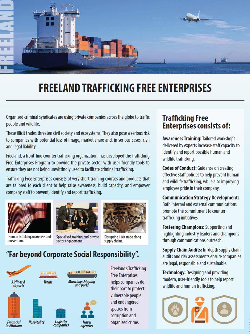 Trafficking Free Enterprises flyer