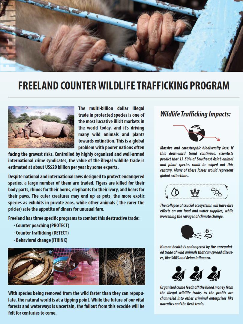 Counter Wildlife Trafficking flyer