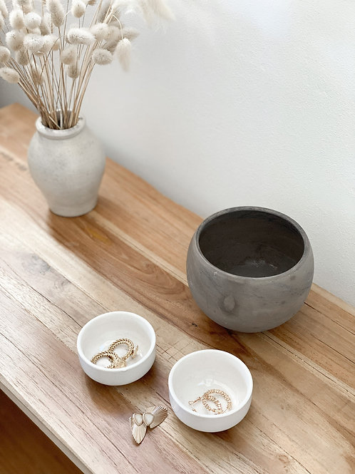 Vase gris/blanc