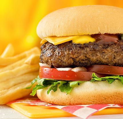 Half pound burgers