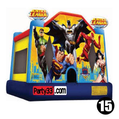 #15 Justice League bounce house