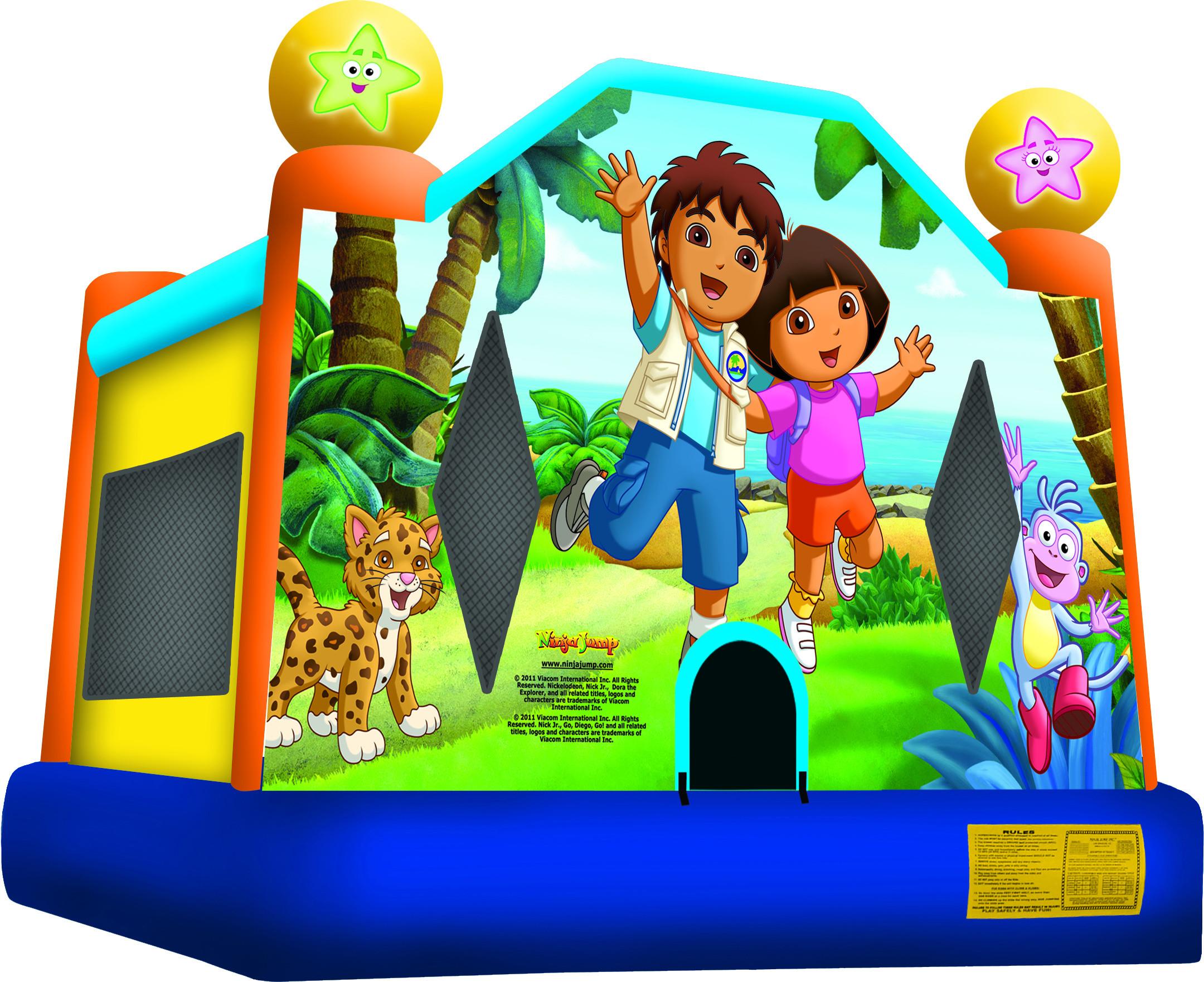 #3 Dora & Diego bounce house