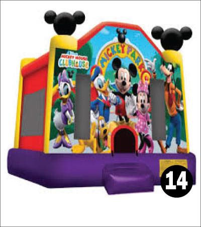#14 Mickey Mouse bounce house