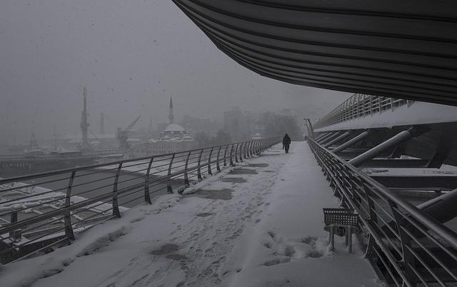 تساقط الثلوج في اسطنبول