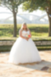 Beautiful bridal portrait, with 7th Street Bridge in the background. Crossroads Photography