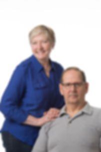 Portrait of a middle aged man and wife, happy married people