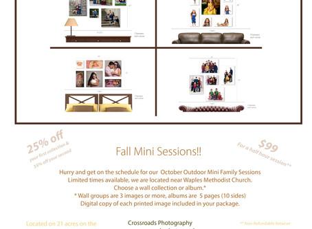 Fall Mini Family Sessions!!