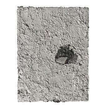 Object and subjective painting (gray paint with scrape)