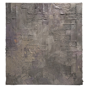 Object and subjective painting (lavender gray weaving)
