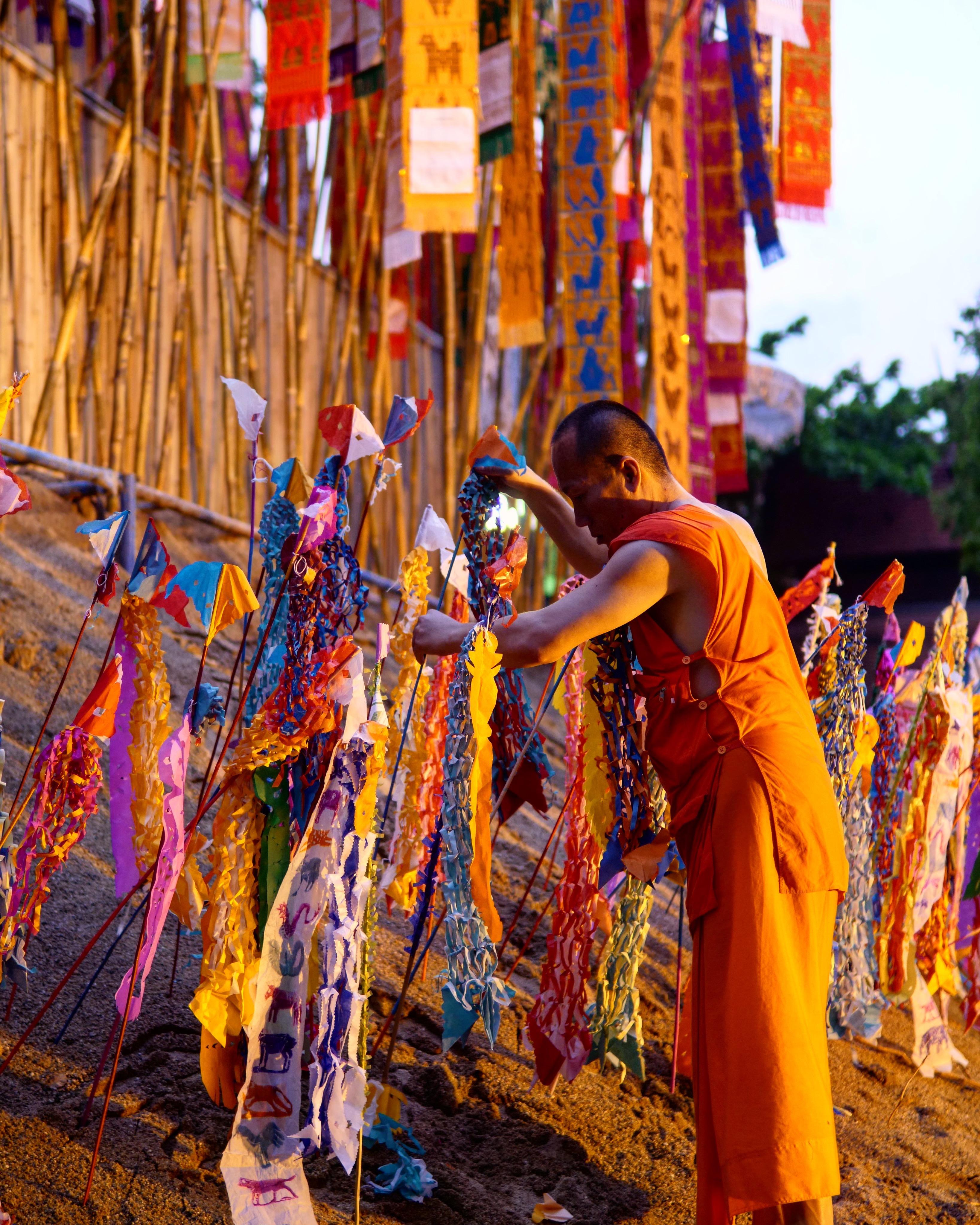 Monk, Songkran Festival