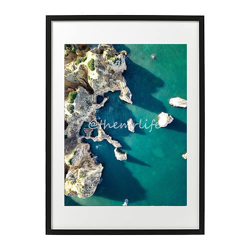 PORTUGAL ROCK FORMATIONS A2 PRINT