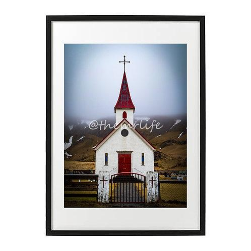 ICELAND CHURCH A2 PRINT