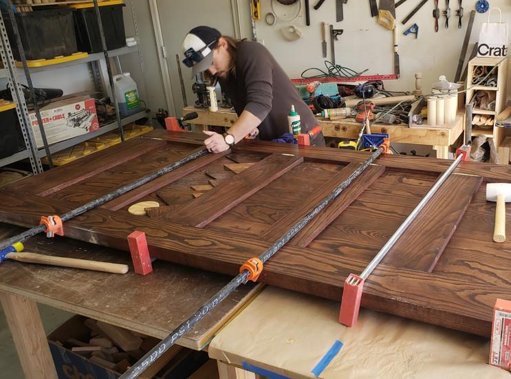 Barn Door Glue up