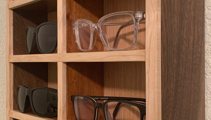Walnut and Maple Accessory Shelf