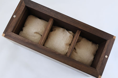 Handmade Men's Valet Box, Walnut & Maple