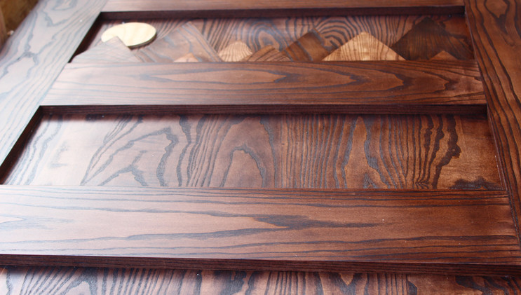 Stained White Ash Barn Door