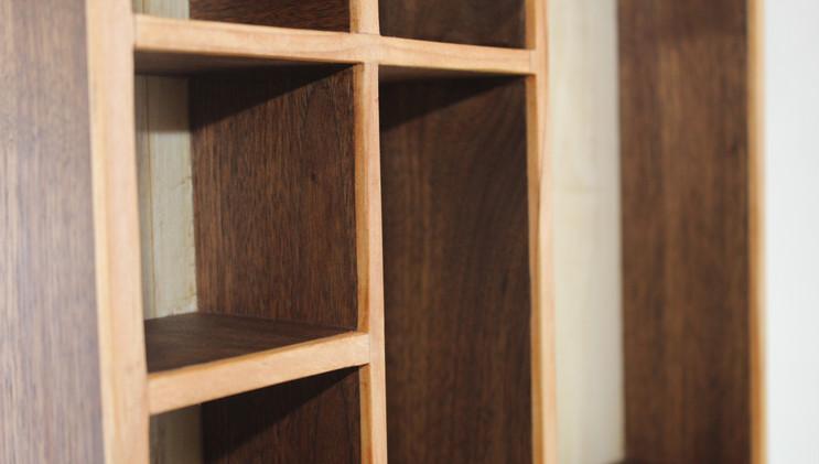 Walnut and Red Alder Accessory Shelf